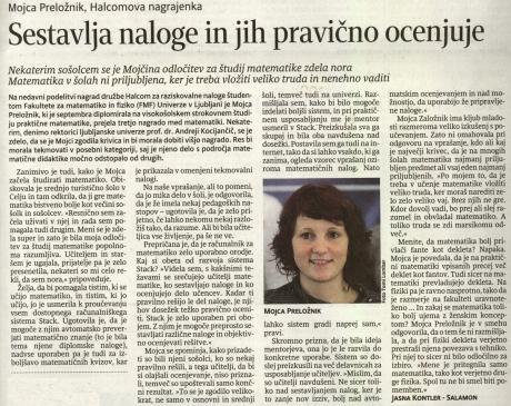 Mojca - članek, Delo, 17.november 2008
